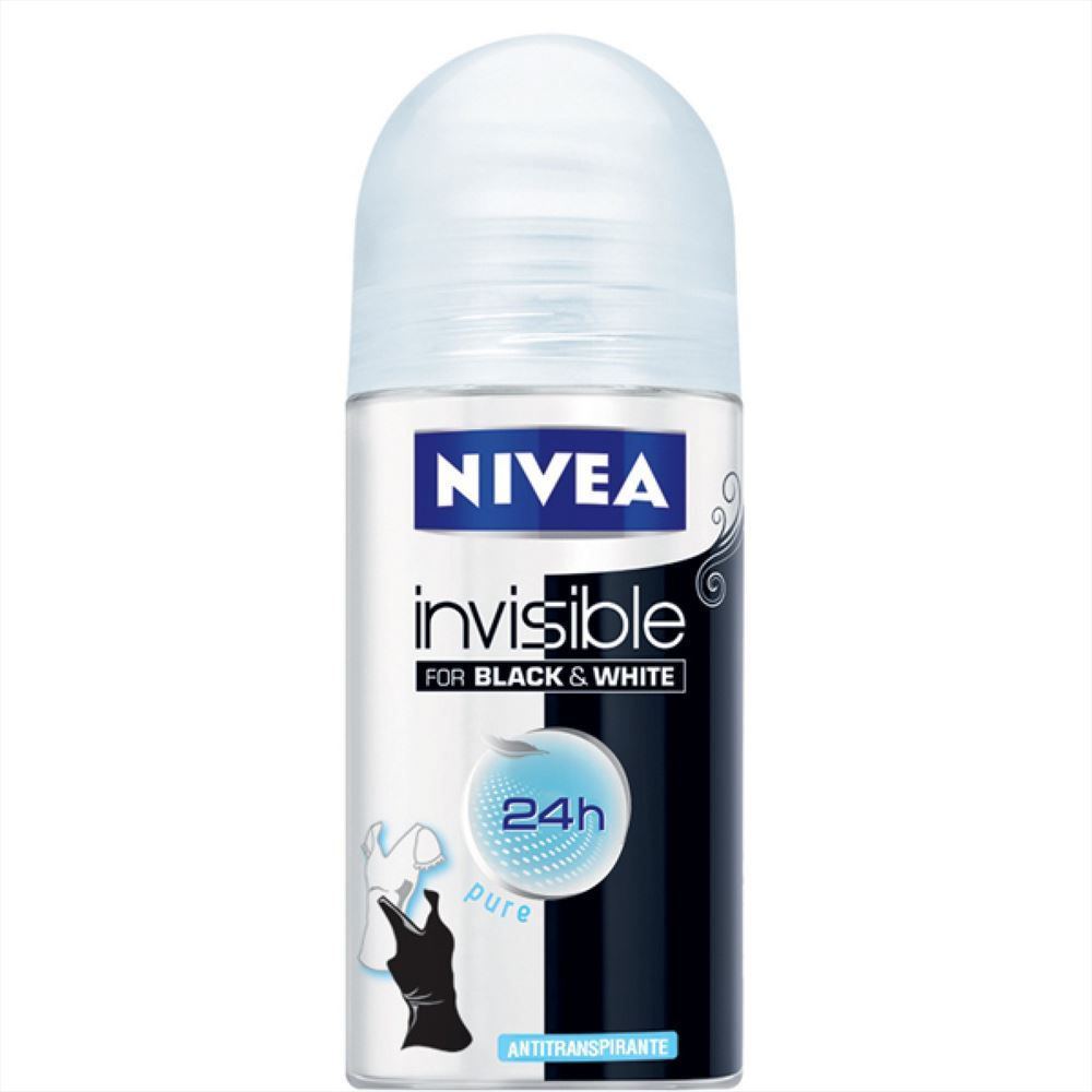 Nivea invisible b&w 50 ml roll on fem