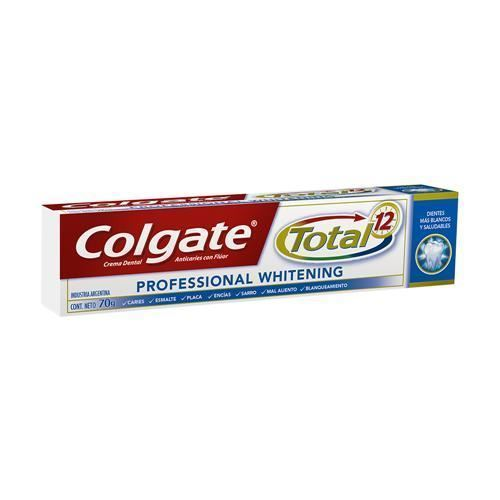 Pasta dental Colgate total 12 professional whitening 70 grs